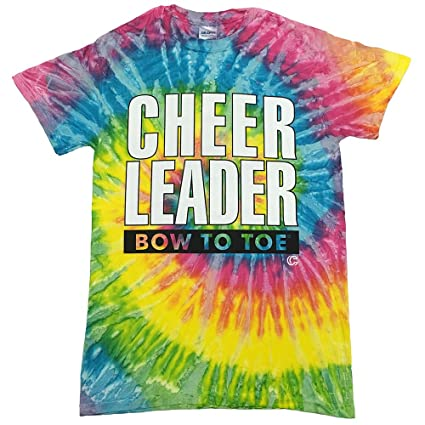 09ee12a9649 Amazon.com   Tie Dye Cheerleader Bow to Toe T-Shirt Youth Extra ...
