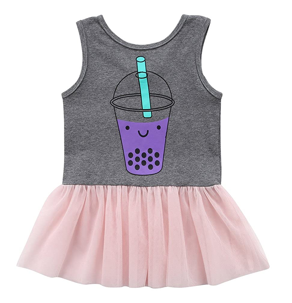 Toddler Baby Girls Tutu Dress Sleeveless Tulle Skirts Dress Princess Dress Sundress