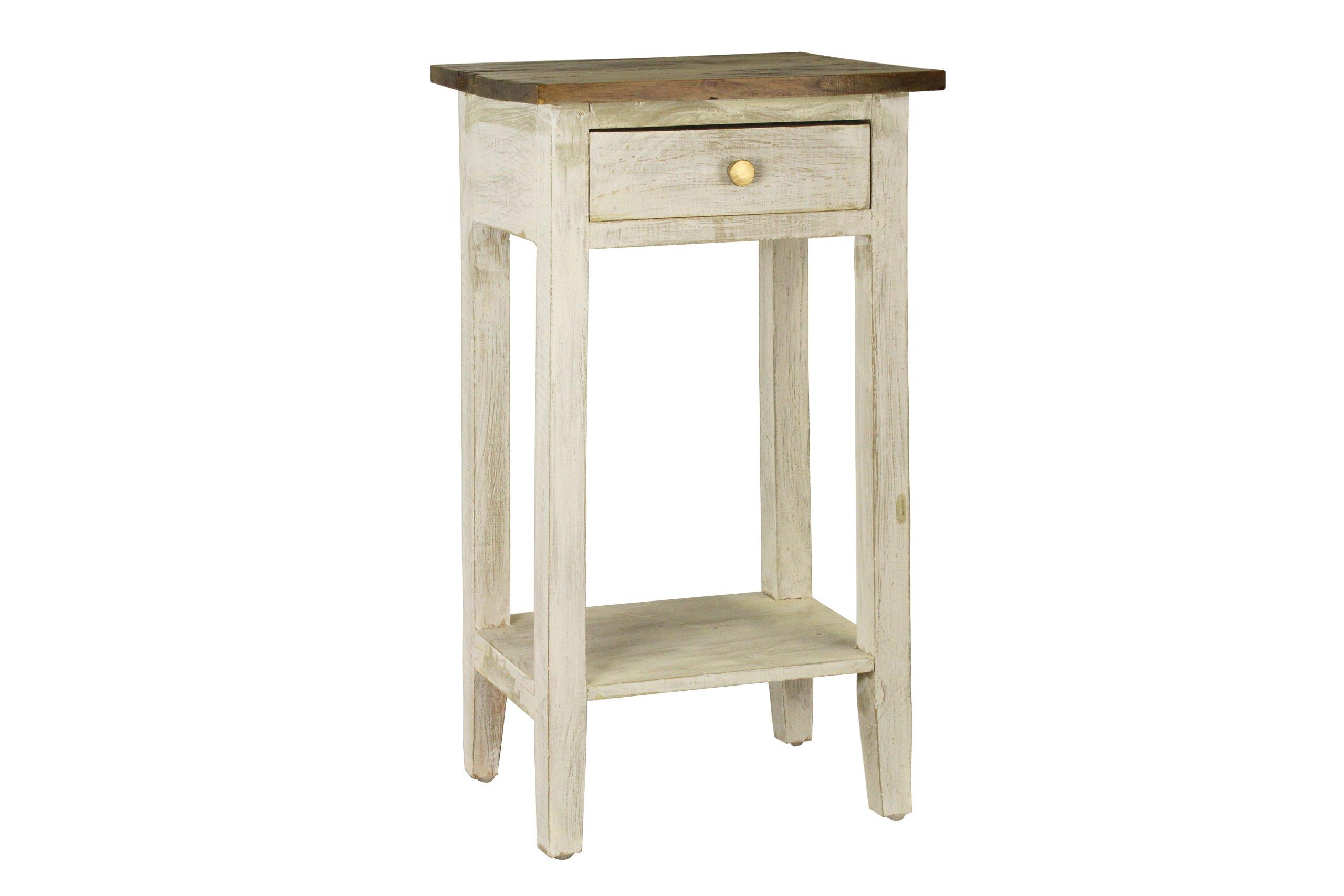 Antique Revival Avignon Side Table, White
