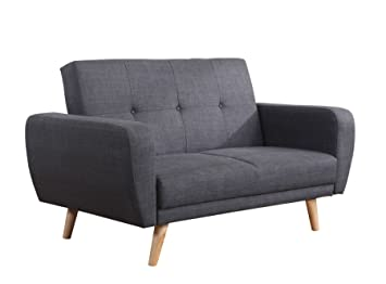 Birlea Farrow Sofa Bed - Fabric, Grey: Amazon.co.uk: Kitchen ...
