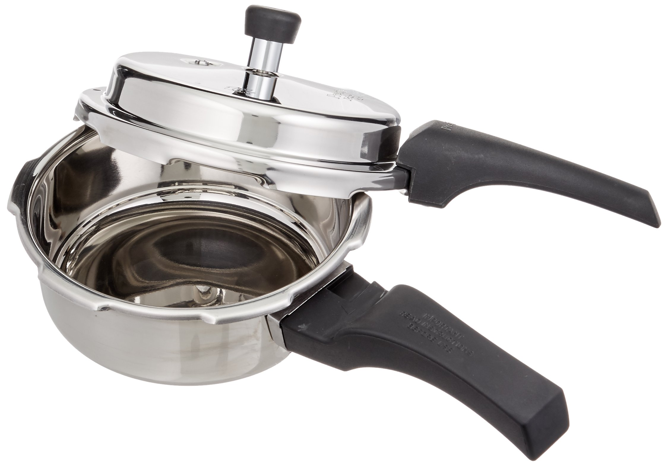Prestige 2L Alpha Deluxe Induction Base Stainless Steel Pressure Cooker, 2.0-Liter by Prestige