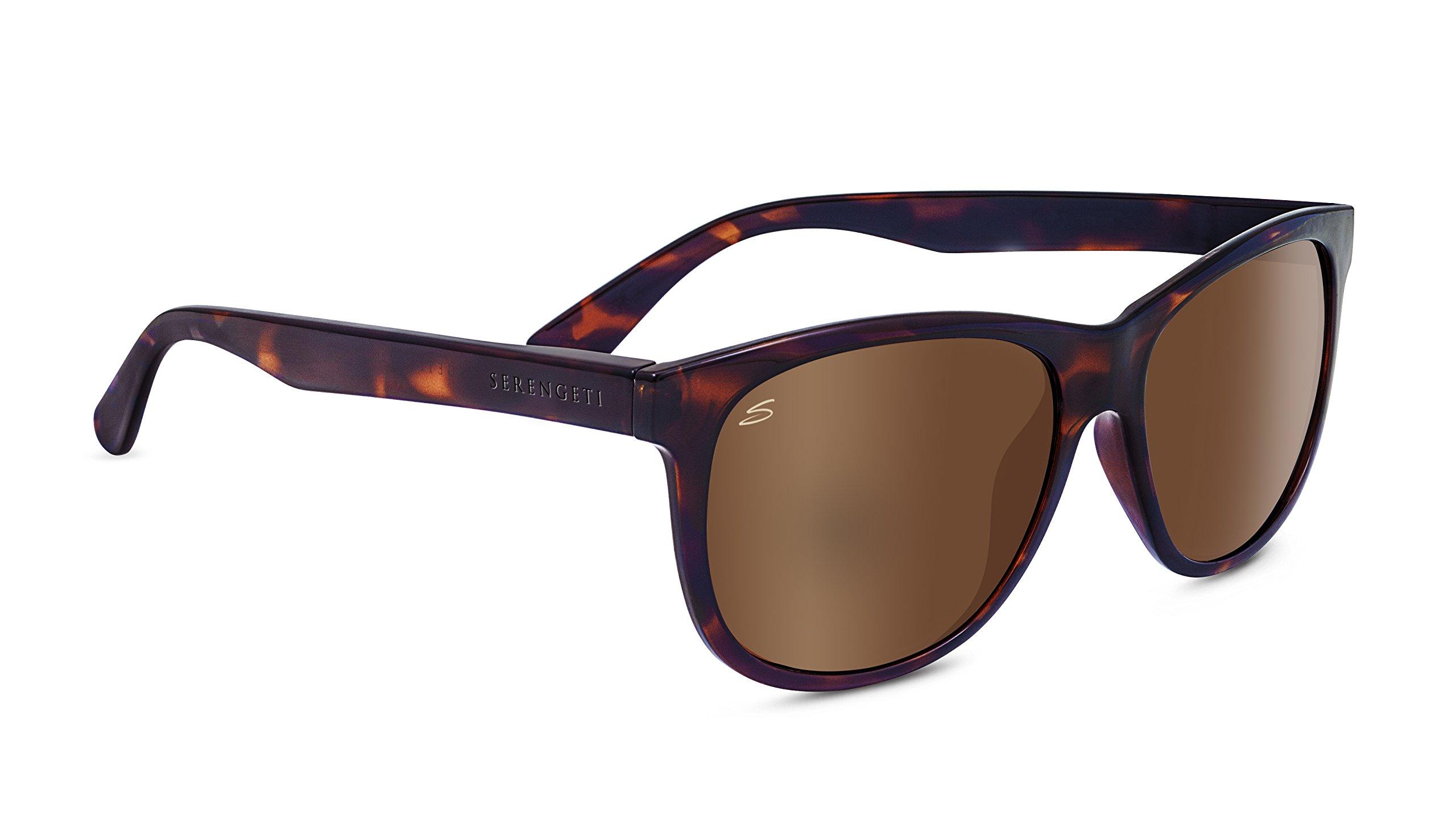 Serengeti 8361 Ostuni Polarized Drivers Sunglasses, Shiny Dark Tortoise Frame by Serengeti (Image #1)