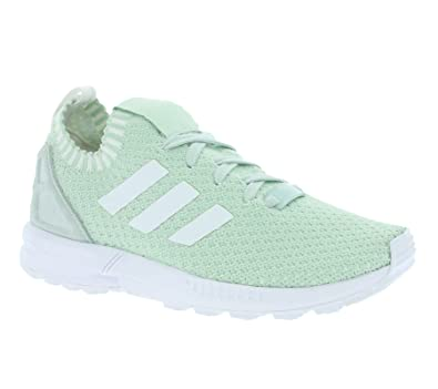 b76b3a23e6445 adidas Womens Originals Womens ZX Flux Primeknit Trainers in Green - UK 4
