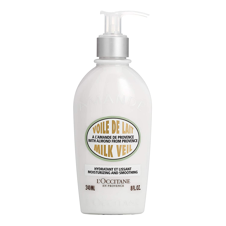 L'Occitane Illuminating Almond Milk Veil Body Lotion for Hydrating Skin, 8 fl. oz.
