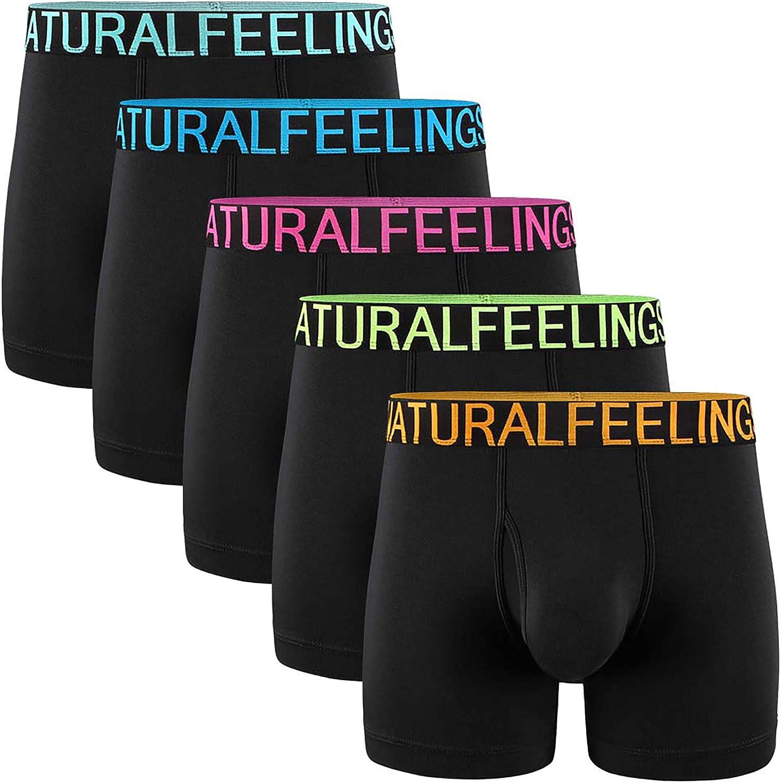 Men Boxer Briefs Breathable Underpants Underwear Comfy Modal Cotton Boxer Briefs