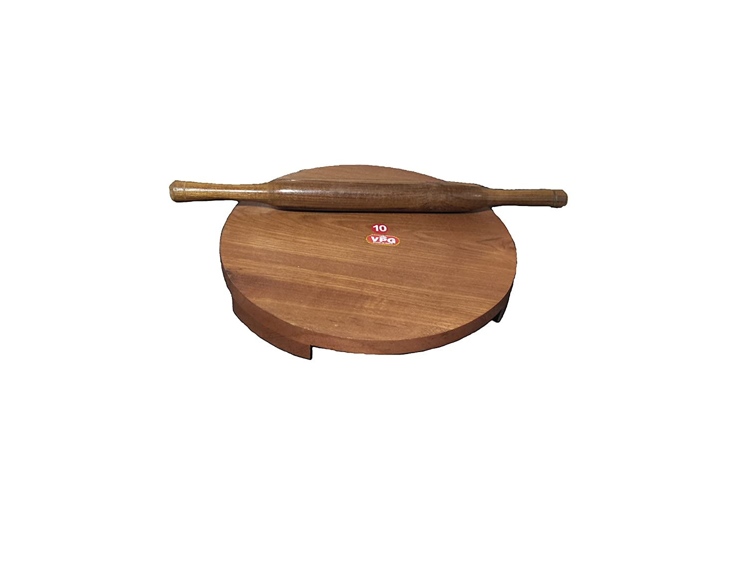 G&D Brown Wooden chakla belan And Rolling Pin,Wooden Chakla Belan 9.5 inch/Sheesham Wood