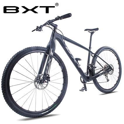 54dd5874736 BXT Carbon MTB Bike Mountain Bike 29er Double Disc Brake 111 speeds Carbon  Bike 29inch Thru
