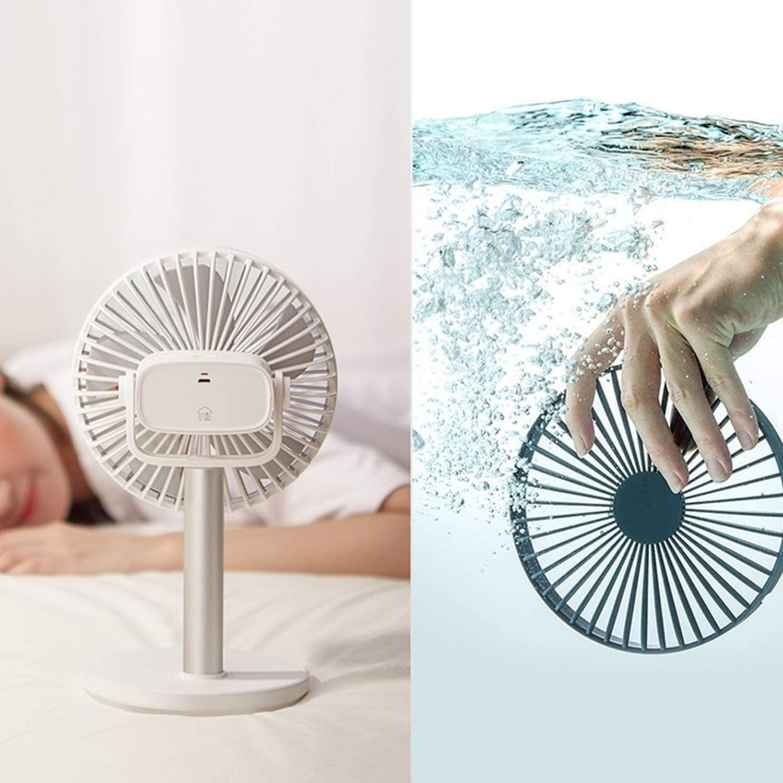 Air Cooler 4 Gear Speed USB Clip Fan Portable Handheld Table Fan Rotatable Large Wind Desktop Mini Fan Office Home Color : White, Size : 01