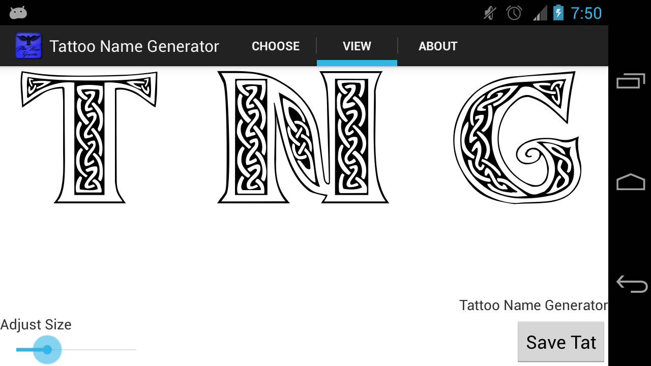 Tattoo name generator appstore for android for Tattoo shop name generator