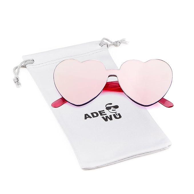 921001651d ADEWU Gafas de sol sin montura Gafas de sol con forma de corazón en forma  de corazón para niña mujer: Amazon.es: Ropa y accesorios