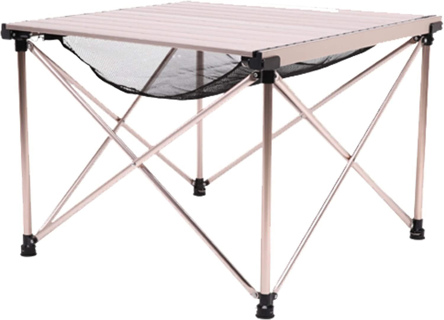Grilling Rugged Folding Table with Roll Top Aluminum Design Portable Lightweight Table for Lounging and Cooking BLACKDEER Adjustable Height Camping Table