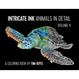 Intricate Ink: Animals in Detail Volume 4 Coloring Book