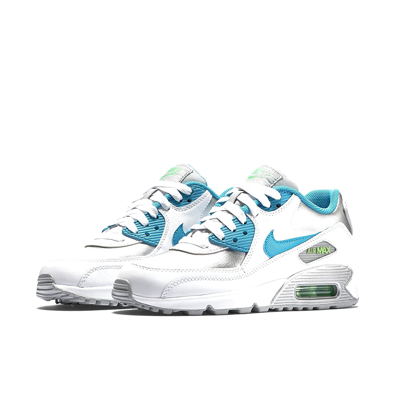 7943ab9f9e148 Nike Women's AIR MAX 90 LTR (GS) Low-Top Sneakers