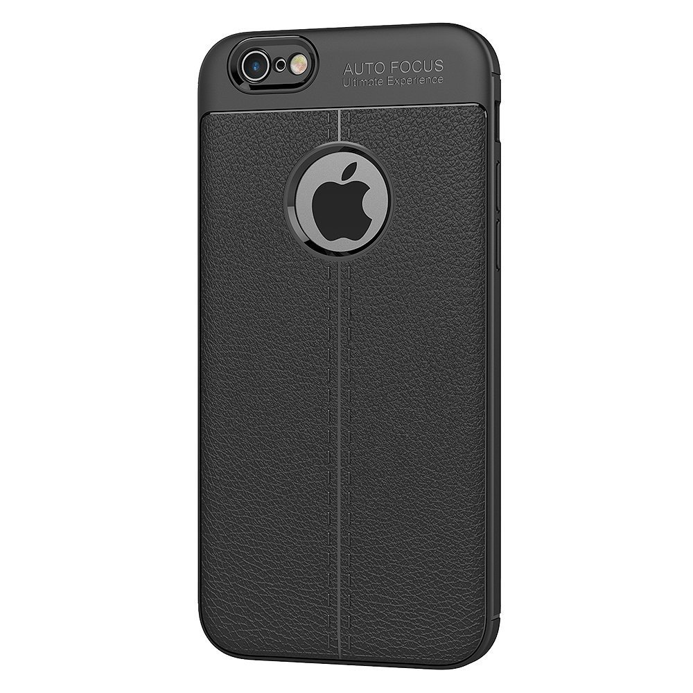 buy online f62a8 e396c iPhone 6 / 6s Case - SHINESTAR Soft Silicone Leather TPU Flexible Auto  Focus Back Cover For Apple iPhone 6 / 6s - (Black)