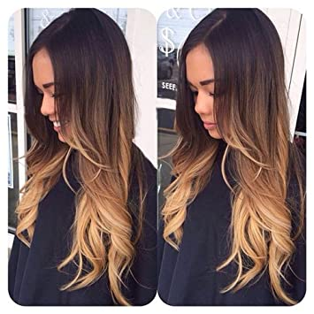 Ombre blond inchis