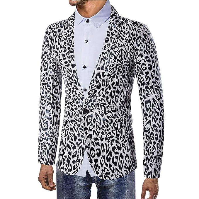BOBOLover Blazer Estampado Leopardo Chaqueta De Traje para ...