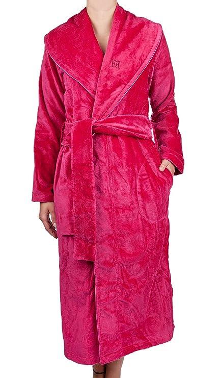 Escada Ladies Raspberry Velour Dressing Gown, raspberry, XXL: Escada ...