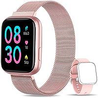 BANLVS Smartwatch, 1.4 Inch Reloj Inteligente IP67 con Pulsómetro Presión Arterial, Monitor de Sueño Podómetro Contador…