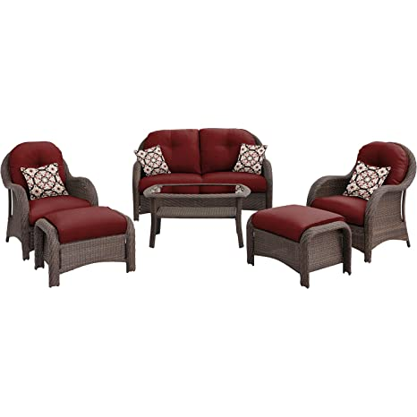 Perfect picture with Hanover NEWPORT6PC-RED