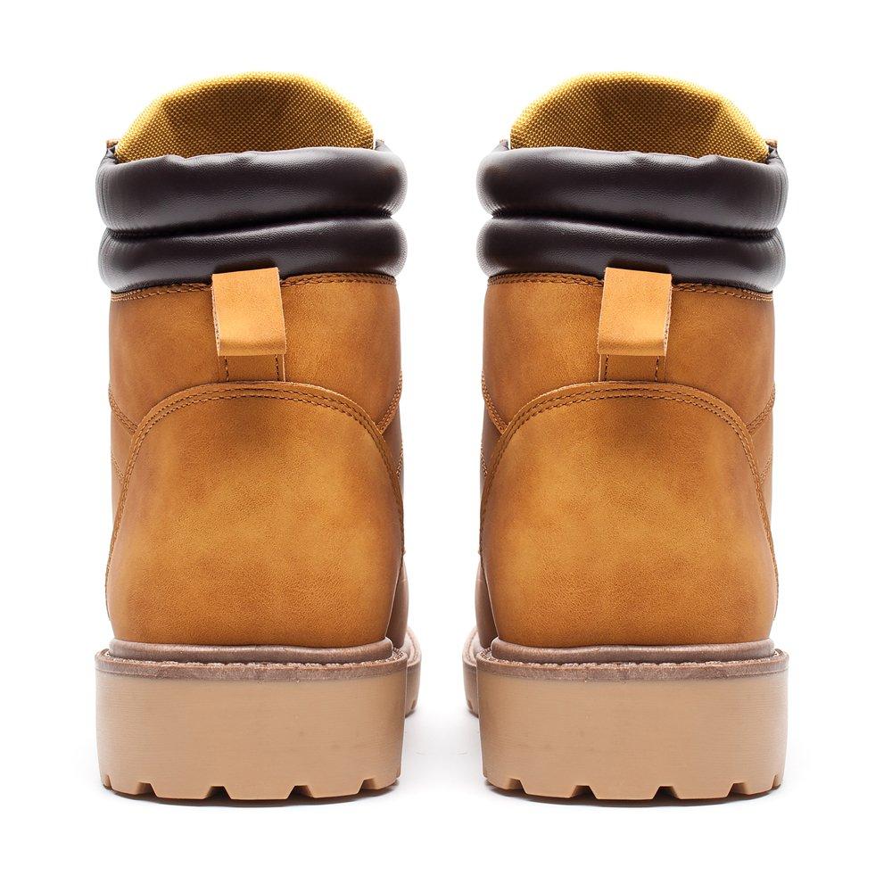 558cab84 DRKA Agua para hombres Trabajo resistente Botas cómodas Cuero llano de goma  Sole Industrial Zapatos de construcción Wheat927