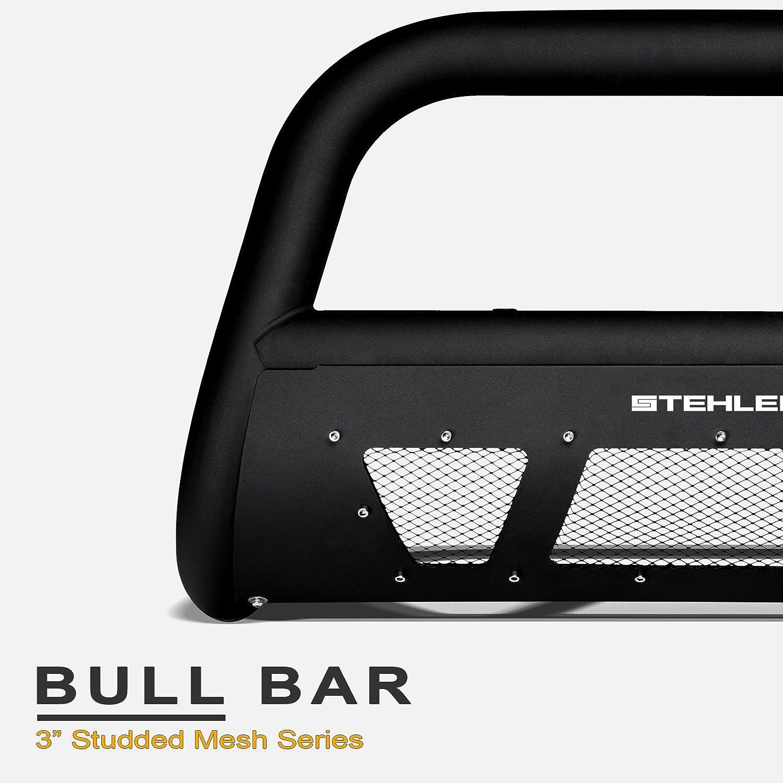 F350 Stehlen 714937182882 3 Studded Mesh Series Bull Bar F550 Superduty F450 Matte Black For 2008-2010 Ford F250