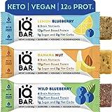 IQBAR Brain + Body Protein Bars | Fruit Lovers Variety | Keto, Vegan, Paleo Friendly, Low Sugar, Low Net Carb, High Fiber, Gluten Free, No Sugar Alcohols | 12 Count