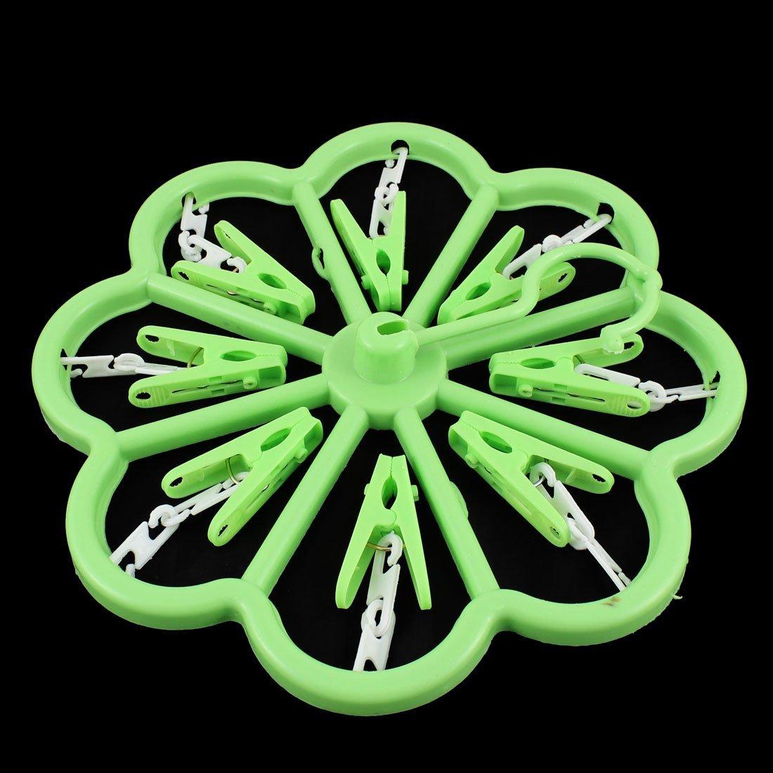 Amazon.com: eDealMax hogar 8 Pinzas de ropa de lavandería de la ropa Interior calcetines de la suspensión Verde 2pcs: Home & Kitchen