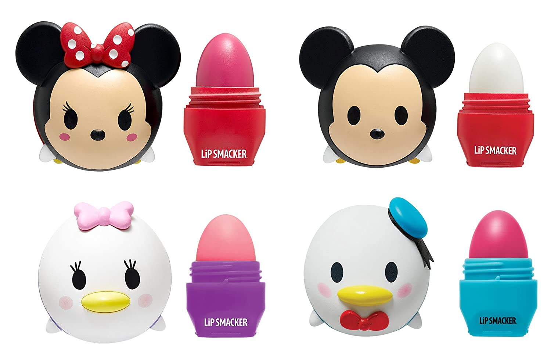 Lip Smacker Disney Tsum Tsum Lip Balm 4 Pack - Mickey, Minnie, Donald, Daisy