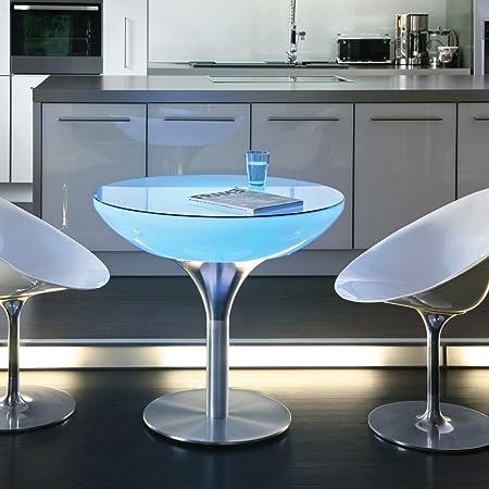 Lounge mesa 75 LED PRO mesa de comedor opalino/chasis aluminio ...