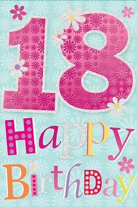 Tarjeta de felicitación para 18 cumpleaños (15 x 23 cm ...