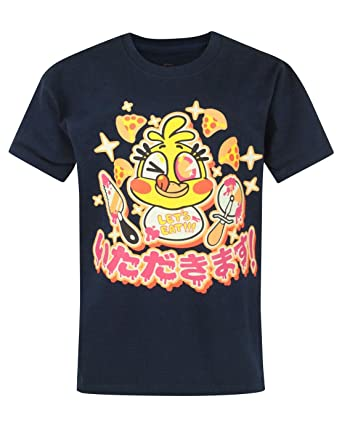 Official Five Nights At Freddys Chica Chicadakimasu Kids Navy T-Shirt (7-8