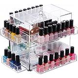 Ikee Design Acrylic Tabletop Rotating Makeup Storage Nail Polish Rack Display