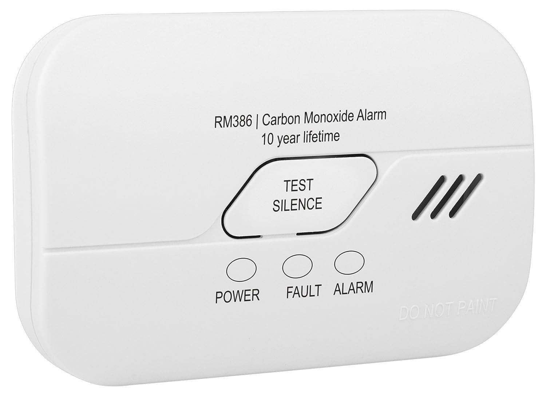 Détecteur de monoxyde de carbone Smartwares RM386 – Capteur pour 10 ans – Pile d'une durée de vie de 3 ans incluse