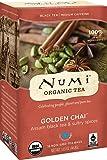 オーガニックゴールデンチャイ・ブラックティー (3箱 X 18 ティーバッグ)54ティーバッグ Organic Golden Chai Tea 18 Count Tea Bags (Pack of 3))