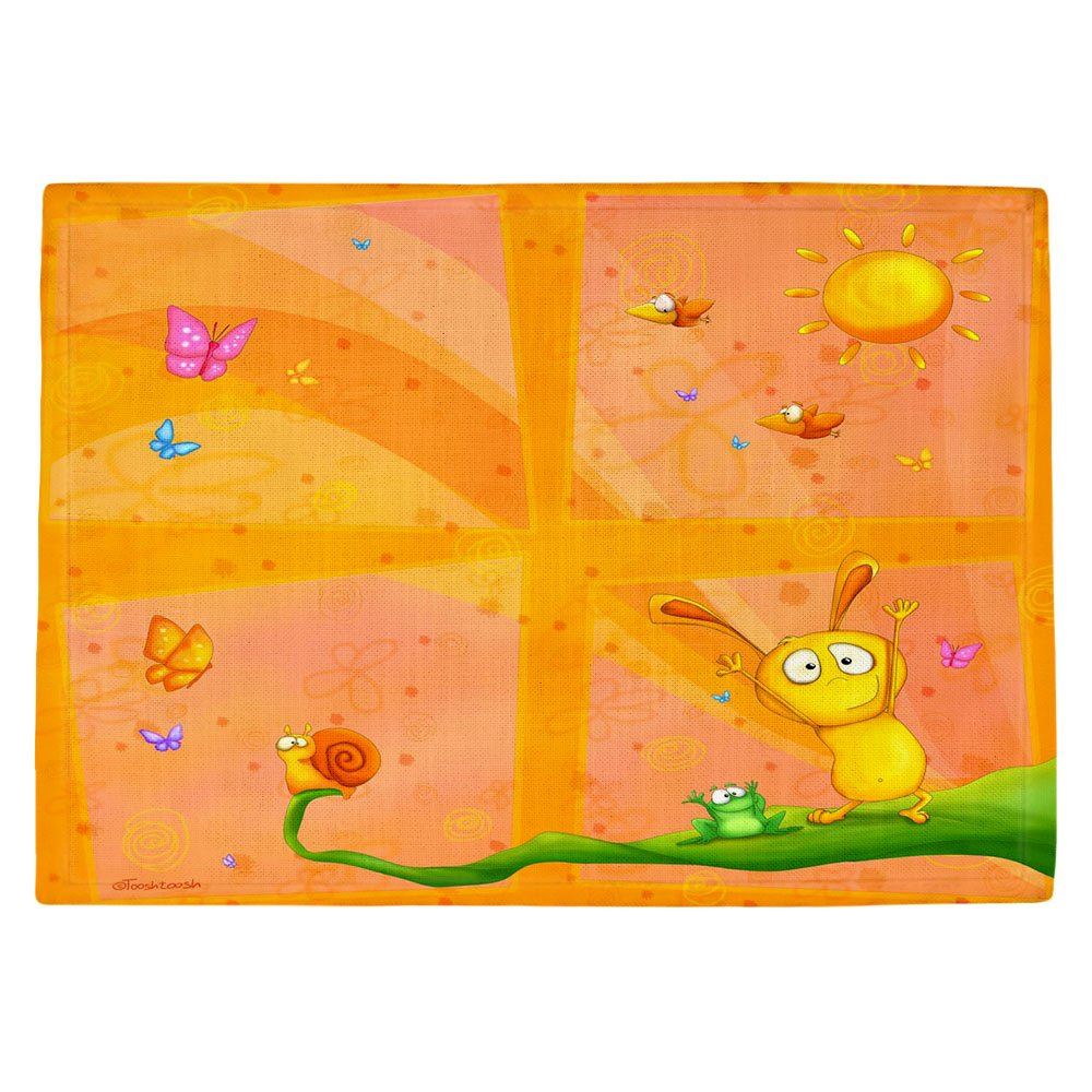 DIANOCHEキッチンPlaceマットby Tooshtoosh – Happy Babyオレンジ Set of 4 Placemats PM-TooshHappyBabyOrange2 Set of 4 Placemats  B01EXSHV3S