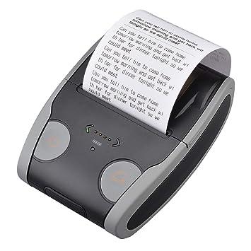 PowerLead Impresora térmica, impresora inalámbrica de alta velocidad PowerLead 58 mm, mini impresora independiente Bluetooth QS5806 compatible con ...