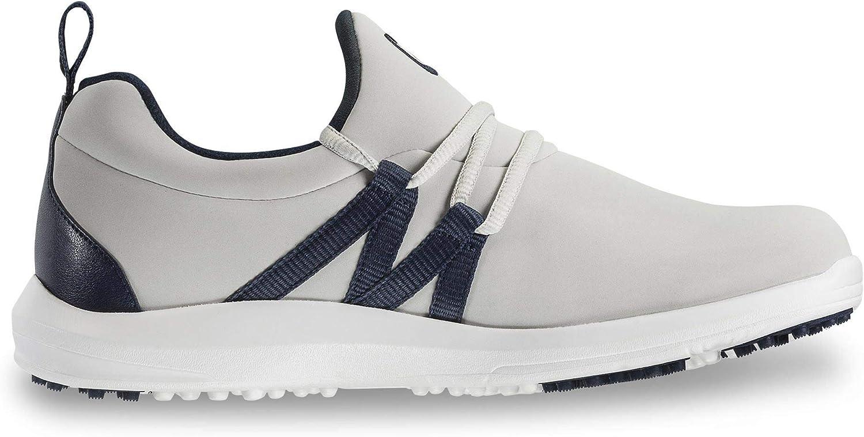 FootJoy Women\'s Leisure Slip-On Golf Shoes Beige 9.5 M, Sand/Navy, US 71guH-HwrtLUL1500_