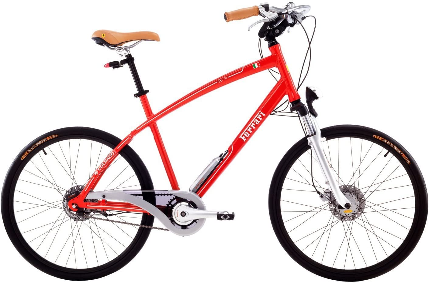 Ferrari CX70-M - Bicicleta de Paseo para Hombre, Color Rojo ...