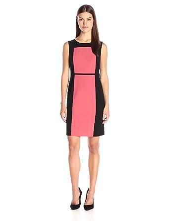 64dc5669d7f Nine West Women s Stretch Color Block Dress at Amazon Women s ...