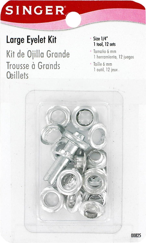 SINGER Large 1/4-Inch Eyelet Kit, 12 Eyelet with Tools (825) Dyno Merchandise 00825