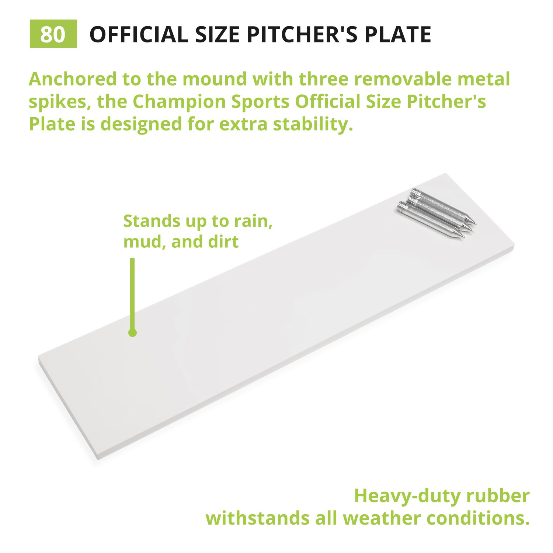 Amazon Champion Sports ficial Pitcher s Plate Regulation