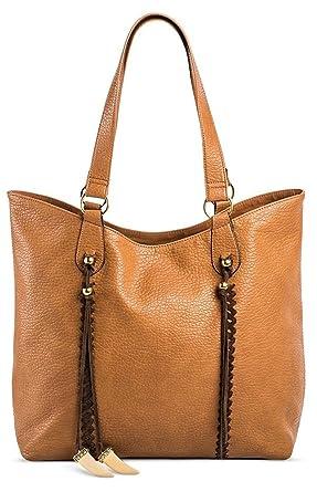 Amazon.com  DV Women s Faux Leather Tote Handbag (Cognac)  Clothing 514b3f1c29ead