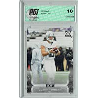 $34 » Justin Herbert 2020 Leaf Draft Football #3 Gem Mint Rookie Card PGI 10 - Unsigned College Cards