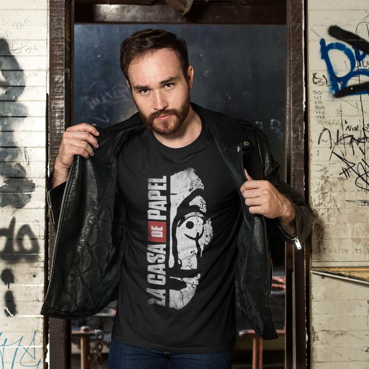 wallshirt T-Shirt Uomo La Casa De Papel
