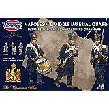 Victrix 28mm Guardia Imperial Media de Napoleón - 60x 28mm Miniaturas Napoleónicas