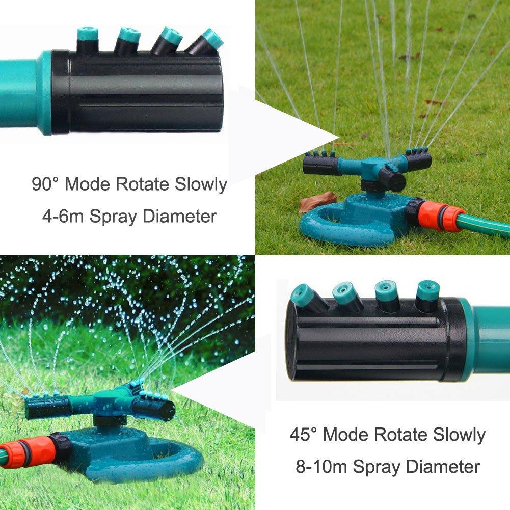 Rasensprenger Gartensprenger 360° Garten Rasen Sprinkleranlage Bewässerungsystem
