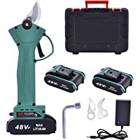 Professionele elektrische snoeischaar, 48 V-2,0 Ah accu, snoeischaar, snijdiameter 30 mm, voor tuinbomen en fruitbomen…