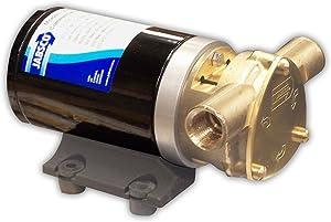 "Jabsco 18670 Series Marine Water Puppy Bilge / Sump Flexible Impeller Commercial Duty Pump 470-GPH,15-Amp Non-CE, 1/2"" NPT Ports"