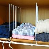 Evelots Closet Wood Shelf Divider-New Extra