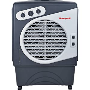 Honeywell Powerful Outdoor Portable Evaporative Cooler with Fan, Long-Lasting Honeywell Honeycomb Padson 3 sides & Copper Continuous Water Supply Connection, CO60PM